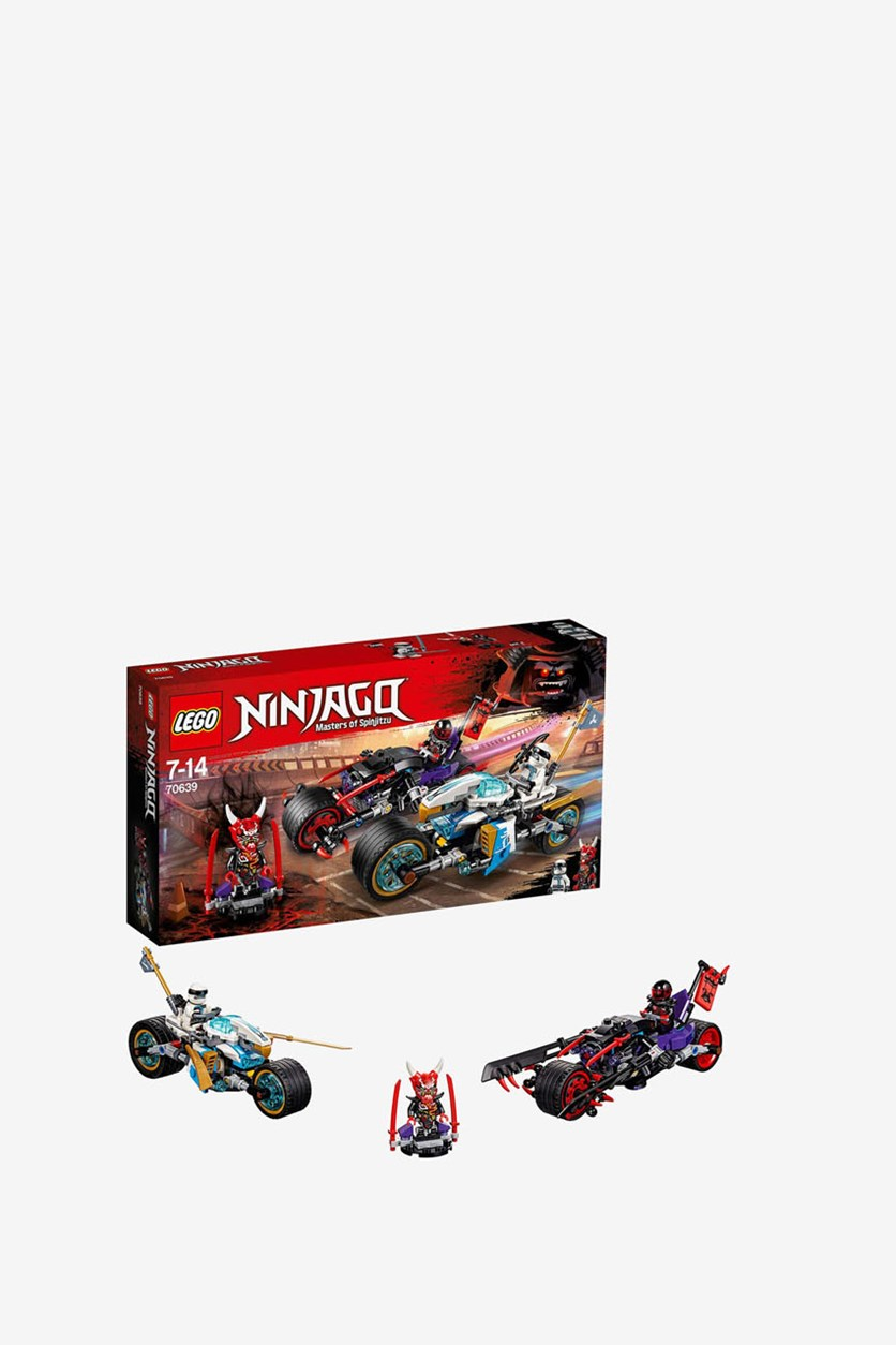 Ninjago Street Race Of Snake Jaguar Building Kit, Black/White/Red Combo