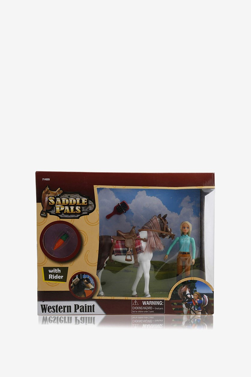 Western Paint with Rider Figurine, Brown
