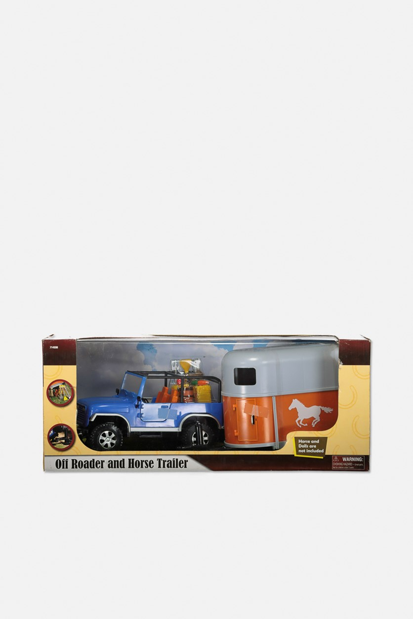 Oil Roader and Horse Trailer, Blue/White/Orane