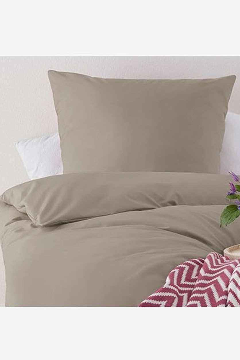 Percale Duvet Set Double 160 x 200 Cm, Grey