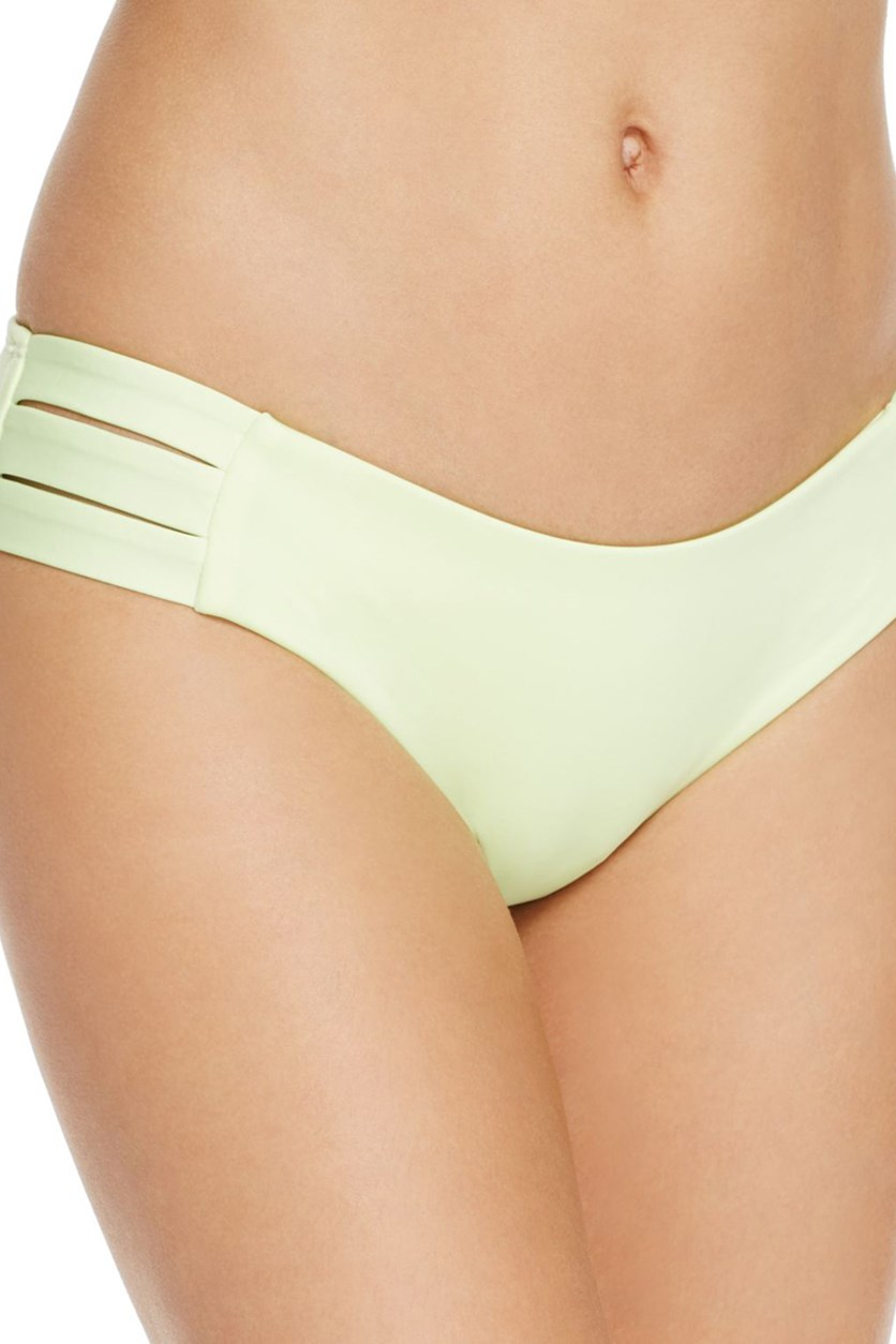 Womens Emelia Cut-Out Hipster Swim Bottom Separates, Lime
