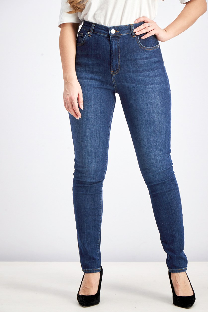 Women's Skinny Jeans, Dark Blue