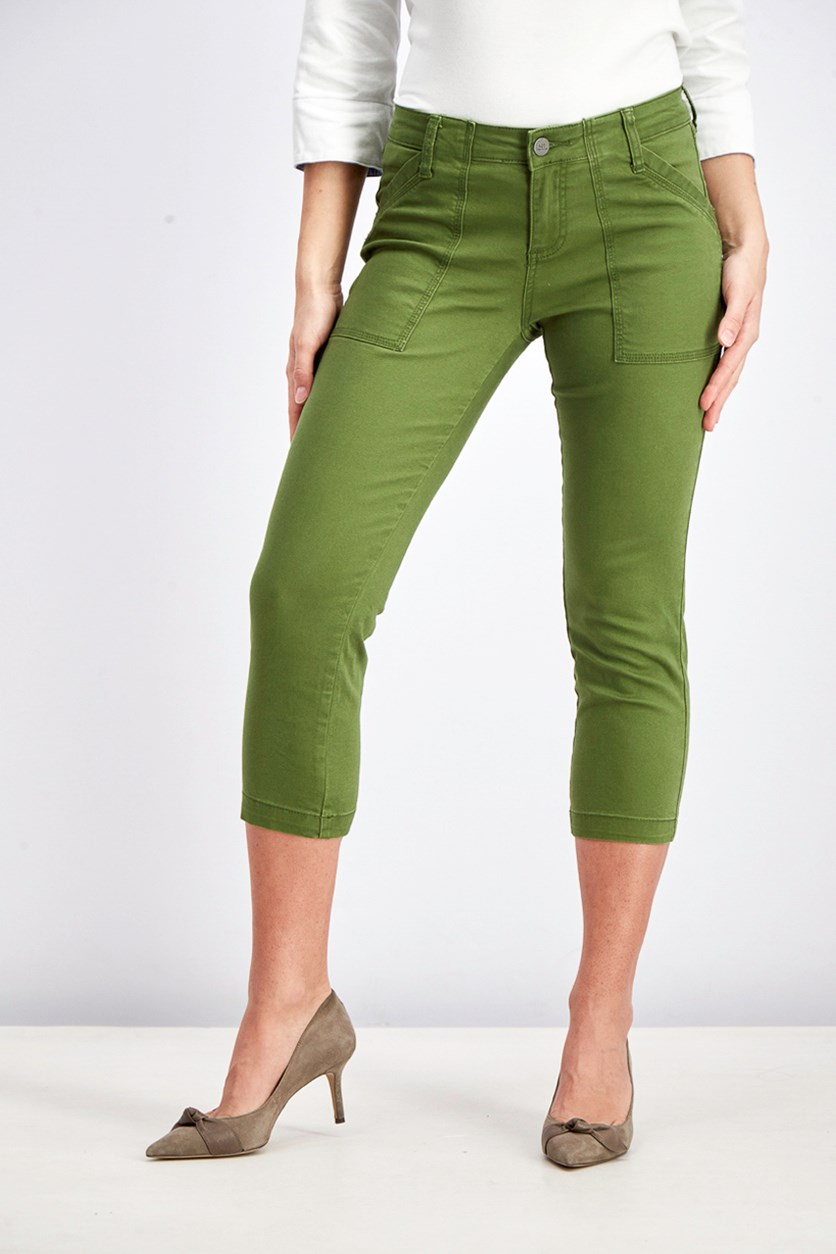 Women's Ella Straight Leg Capri Pant, Green