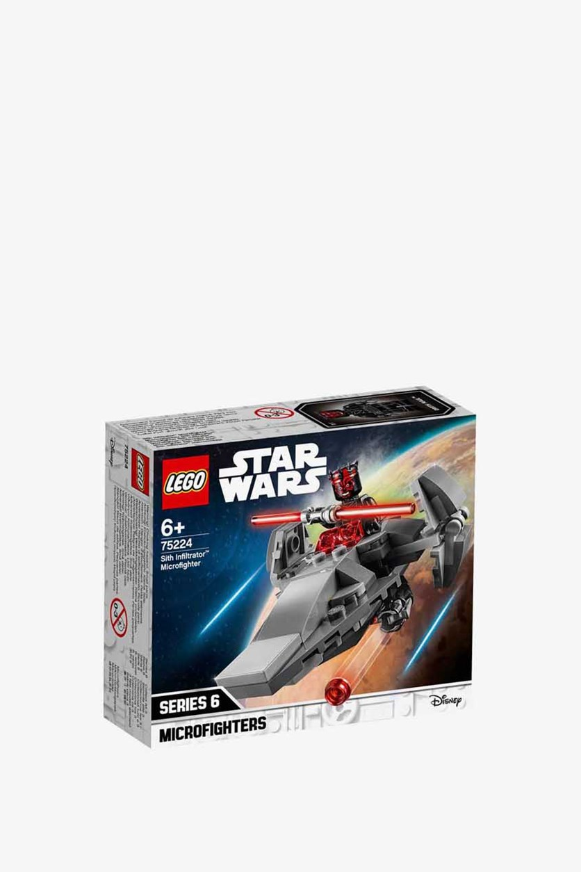 Star Wars Sith Infiltrator Microfighter Building Kit, Grey/Red