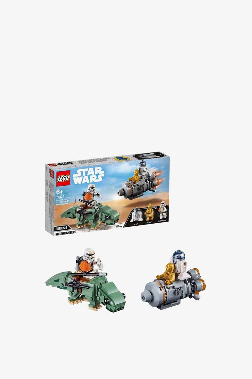 Star Wars A New Hope Escape Pod Versus Dewback Microfighters Building Kit, Green/Grey/Gold
