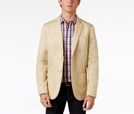 Men's Carolina Cotton Sport Coat, Beige