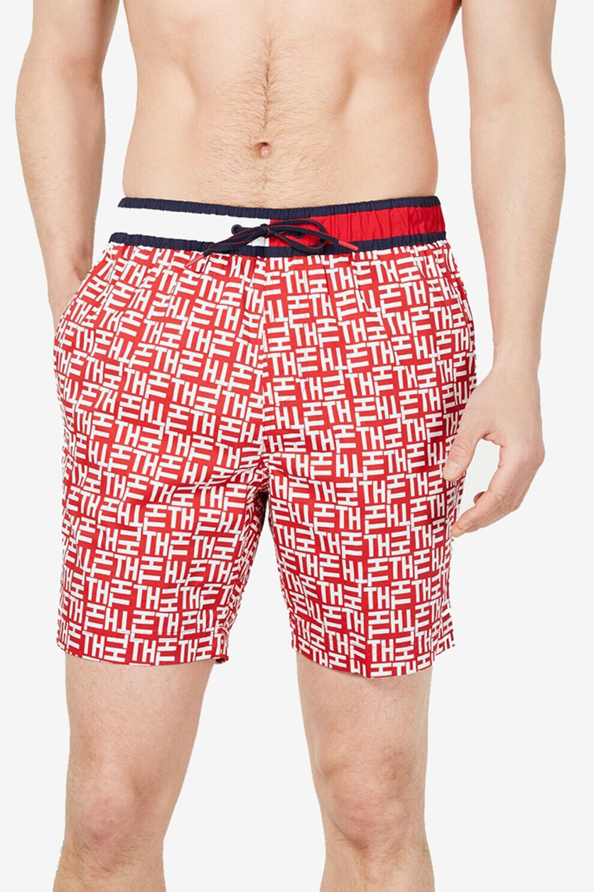 Men's Thflex Swim Trunks, Red/Blue