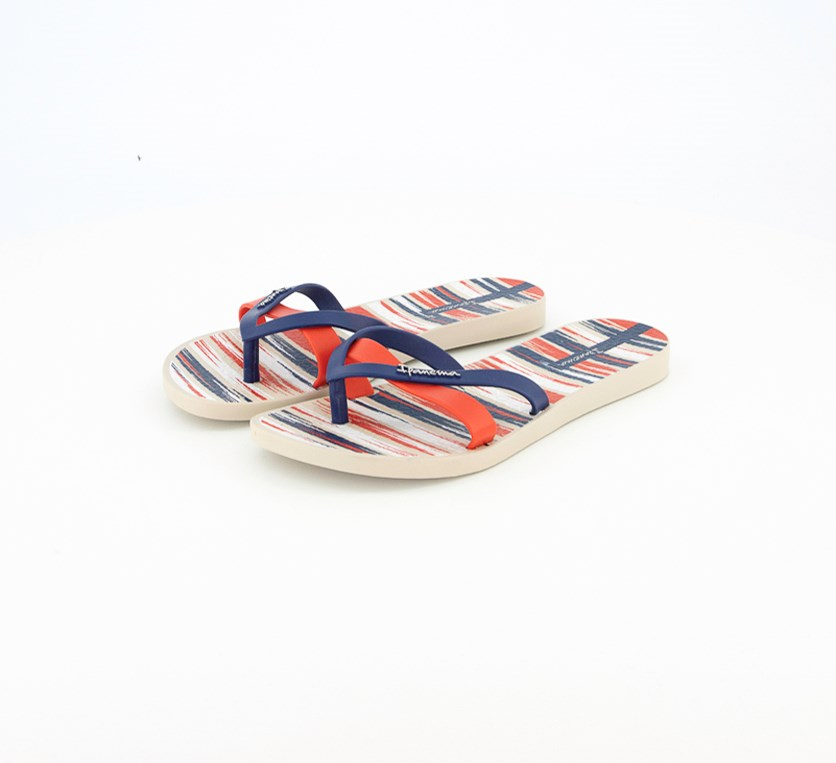 Slip-On Sandals, Blue/Red Combo