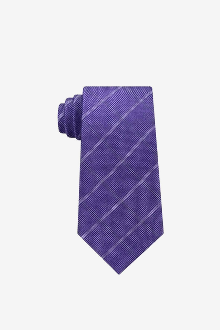 Men's Stonehurst Grid Silk Tie, Purple