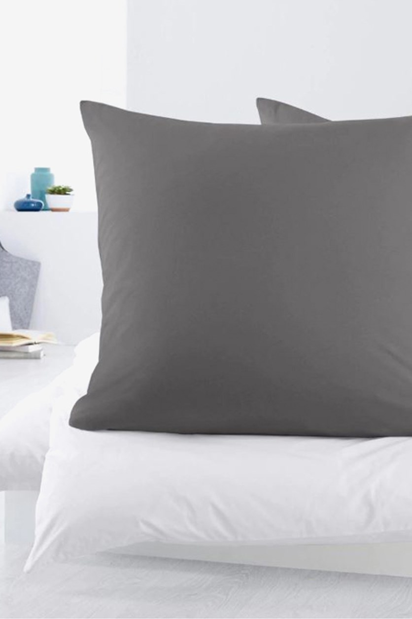 Pillow Cover Made Of Jersey 2 Pieces, Grey