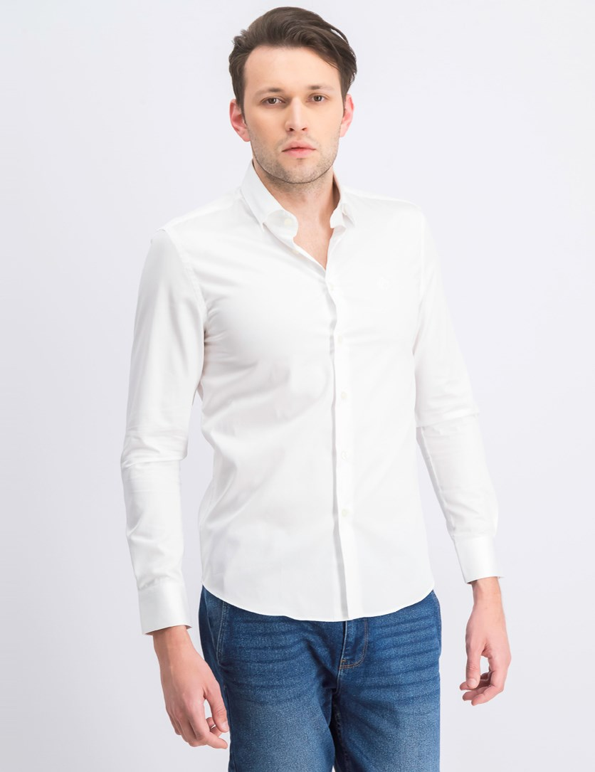 Men's Camicia Slim Fit Collo Classic, White