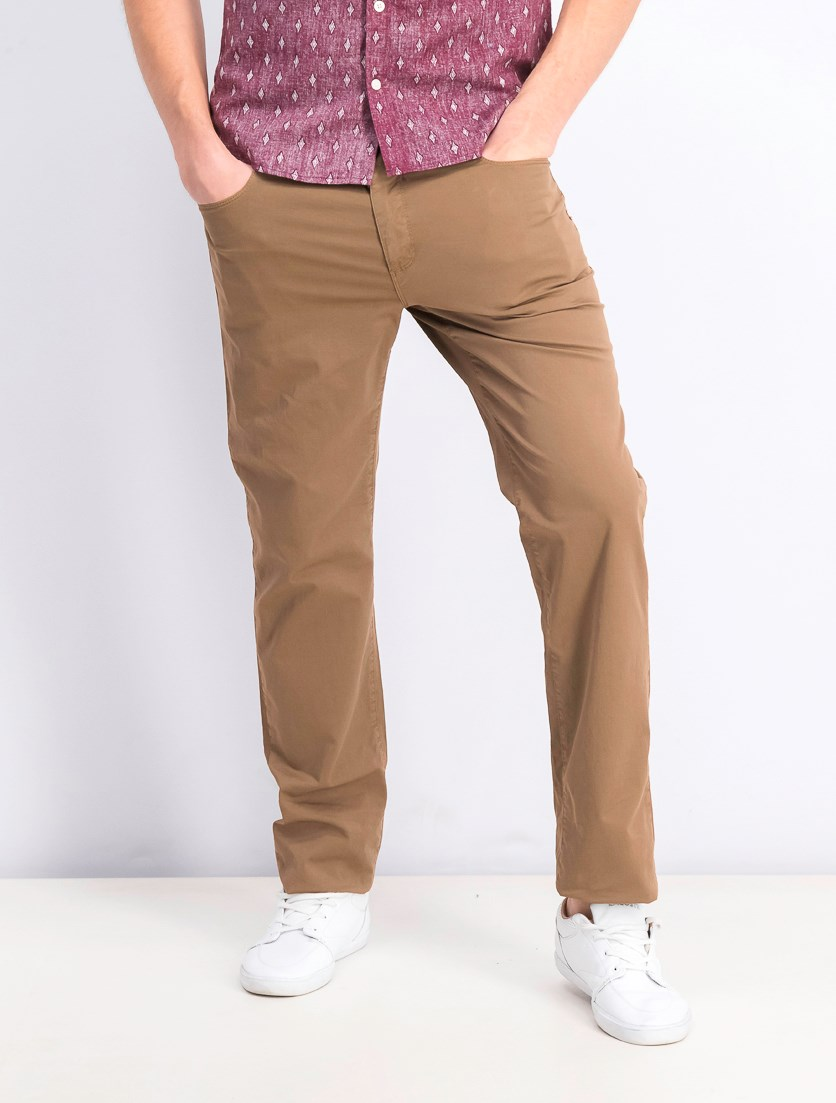 Men's 370 Close Mid Rise Slim Fit Pants, Brown