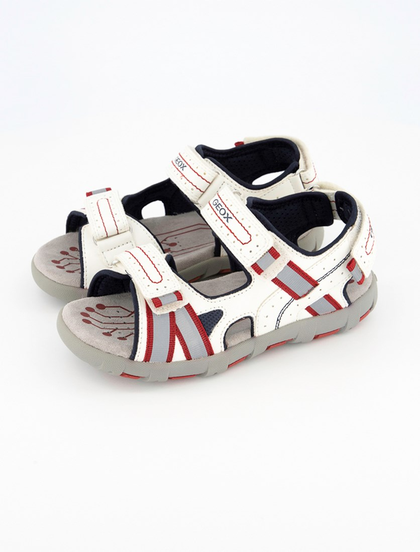 Kids Boys' Pianeta Jr Sandal, White/Red