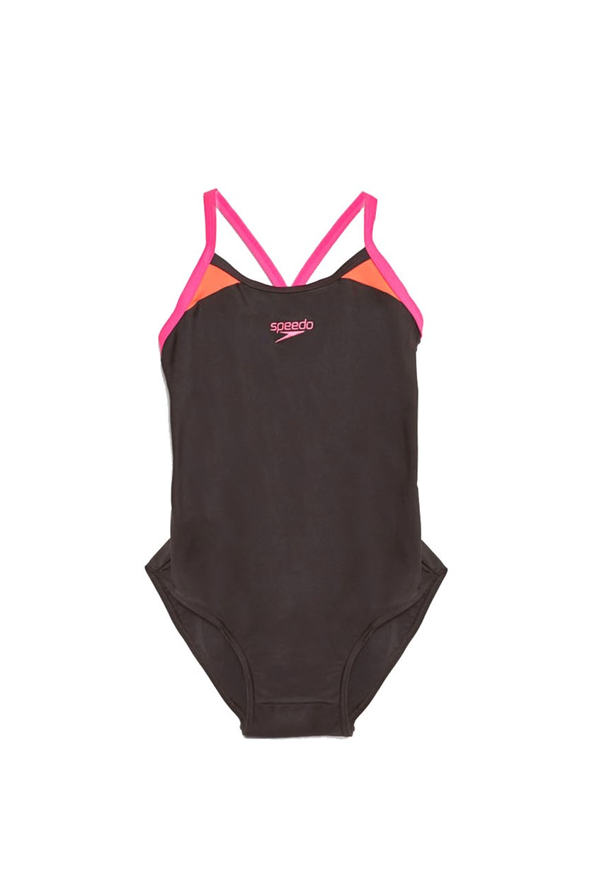 Women's Splice Racerback Swimsuit, Black Combo
