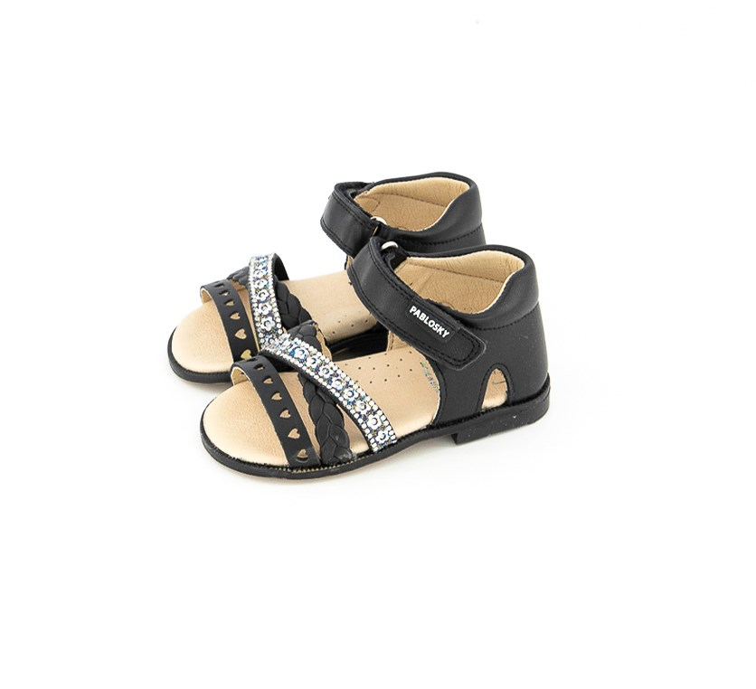 Toddler Girl's Sandals, Black