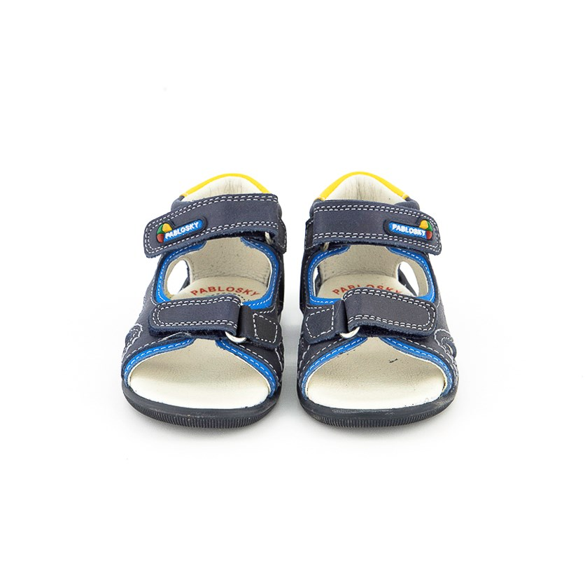 Toddler Boy's Sandals, Navy/Blue/Yellow