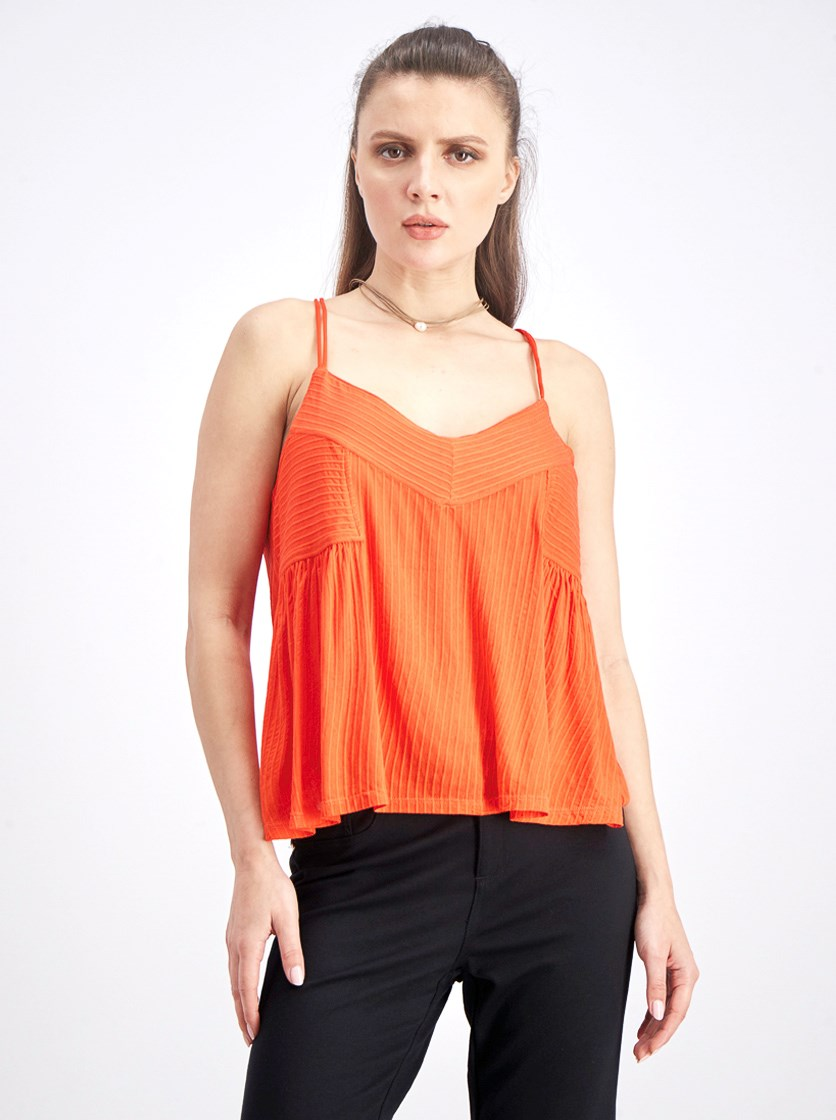 Women's Sleeveless Top, Orange