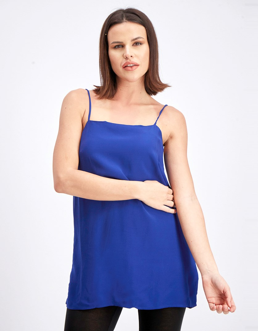 Flowy Spaghetti Strap Top, Royal