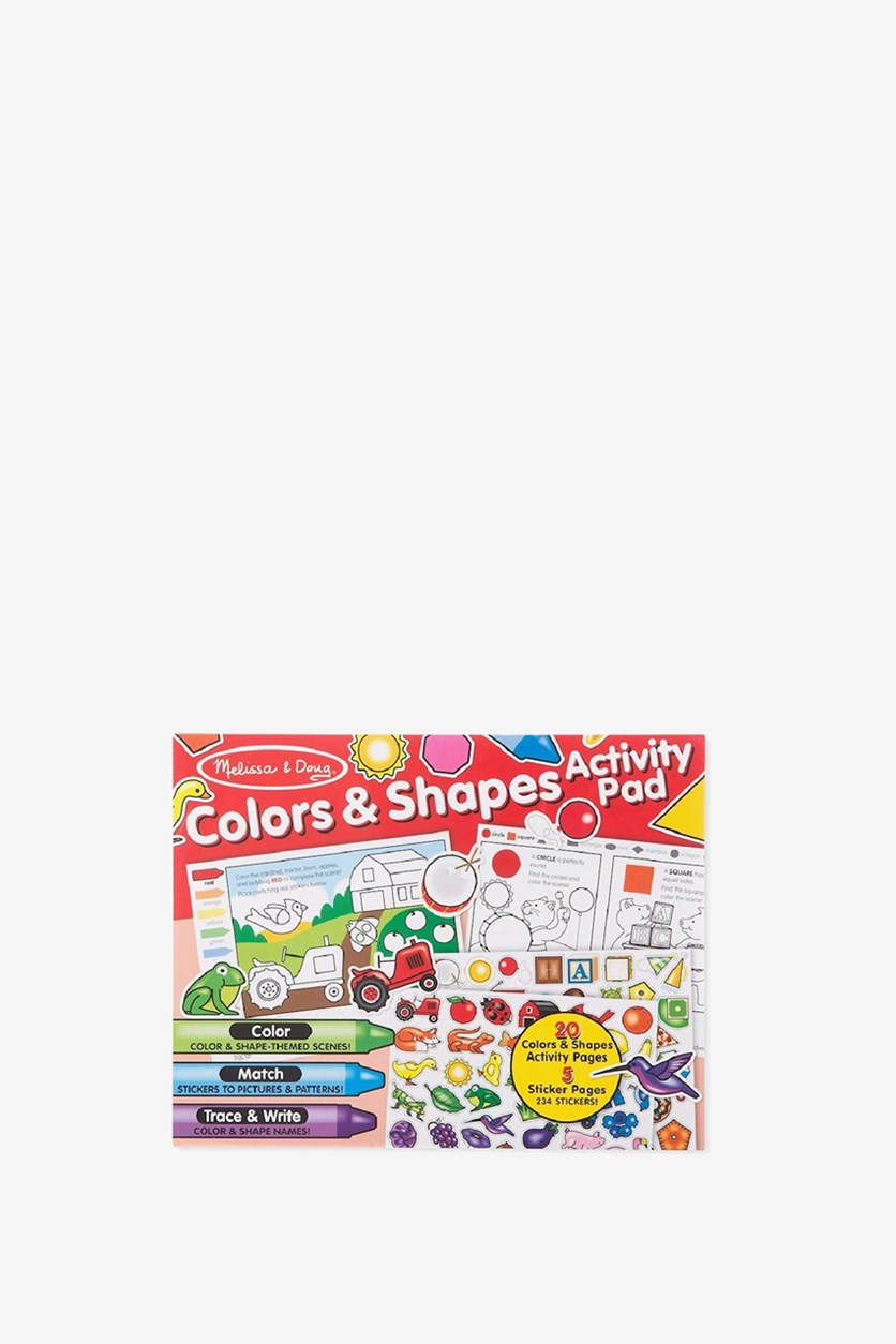 Color And Shape Activity Pad, Red