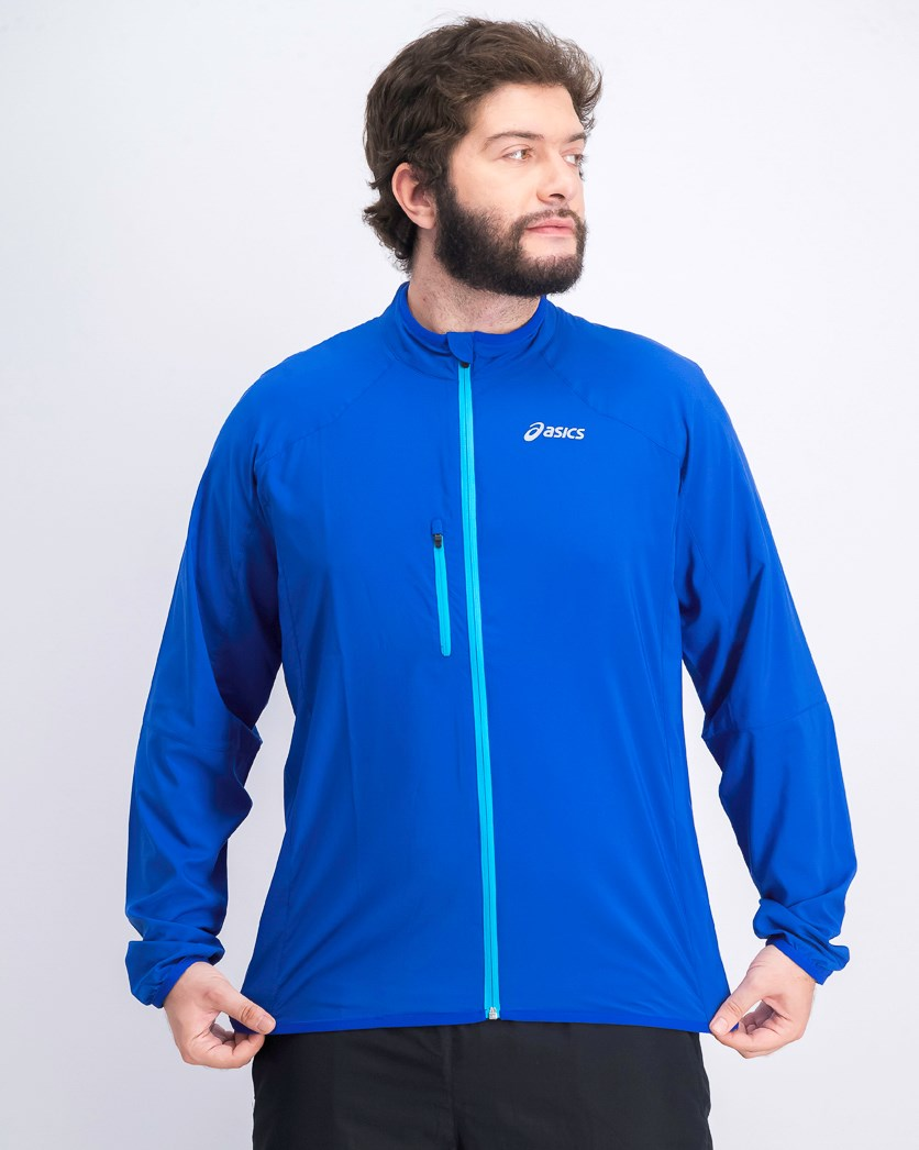 Men's Brand Logo-Print Long Sleeves Core Running Jacket, Air force Blue
