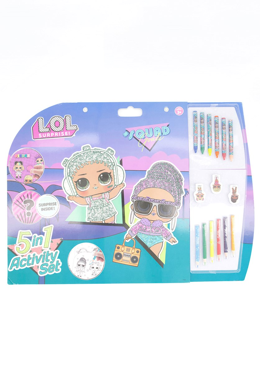 Lol 5in1 Surprise Activity Set, Green/Blue/Pink/Purple