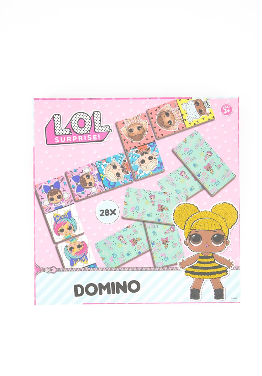 Girl's Domino Game, Pink Combo
