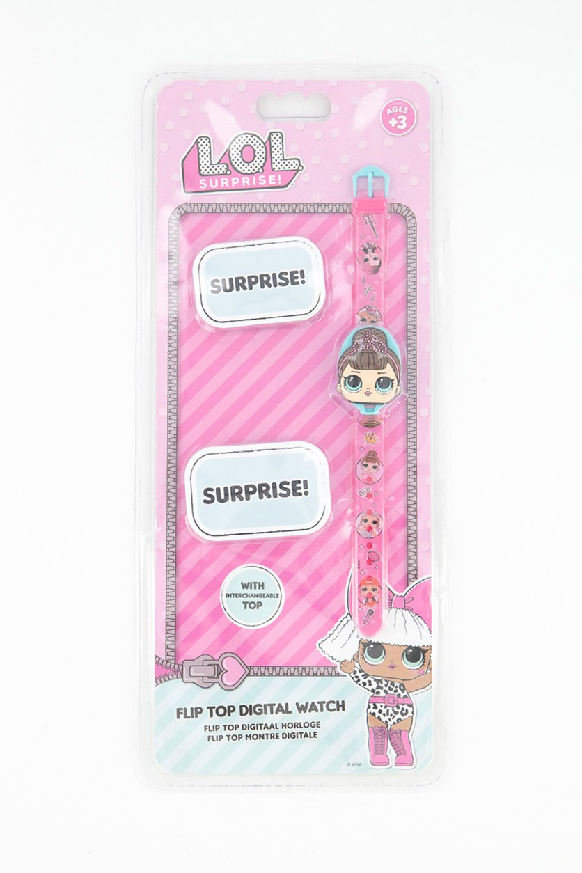 L.O.L Surprise Wrist Watch With Flap, Pink