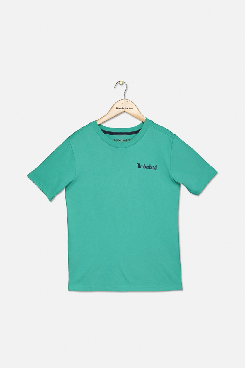Kids Alton Big Tree Shortsleeve Tee, Sea Green
