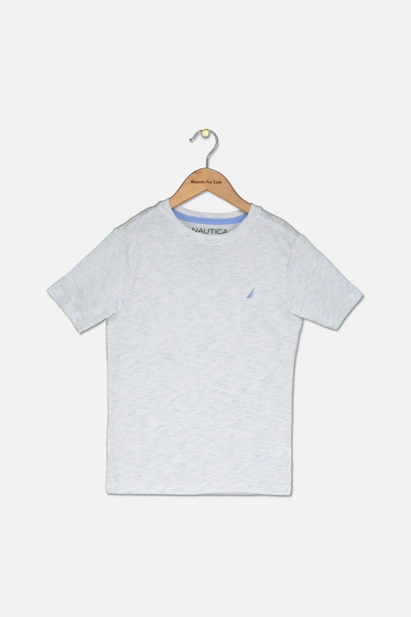 Kids Evan Crewneck Tee, Corn Blue