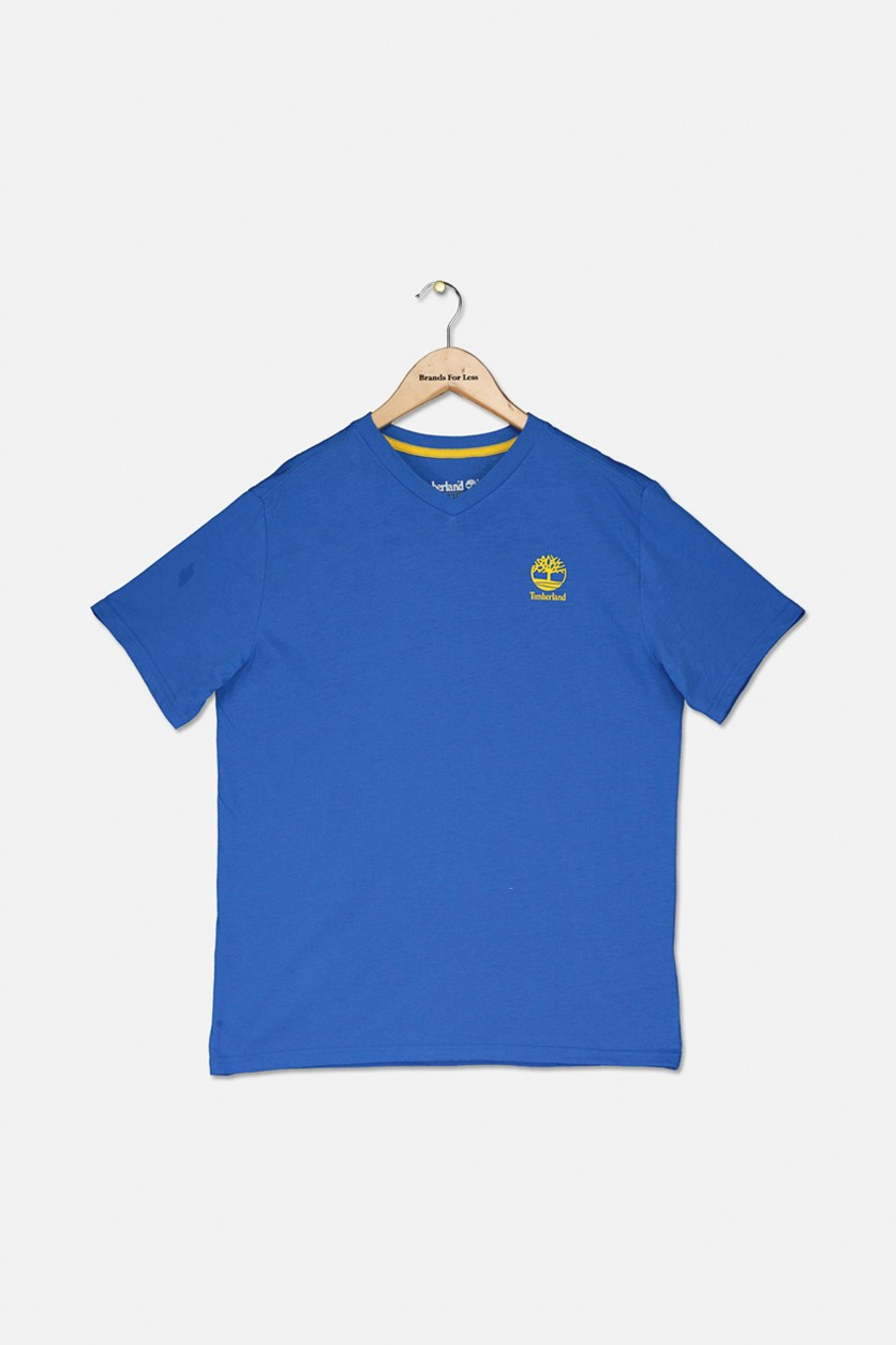Boy's Plain Shirt, Strong Blue