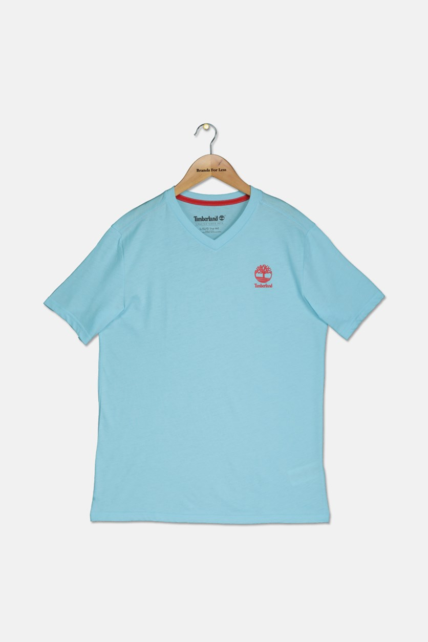 Boy's Plain Shirt, Light Blue