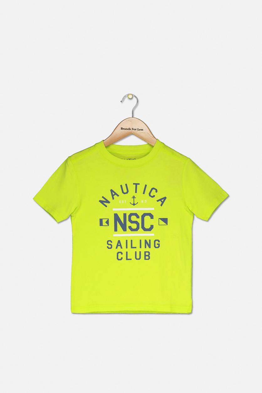 Kids Short Sleeve Graphic Tee, Lime