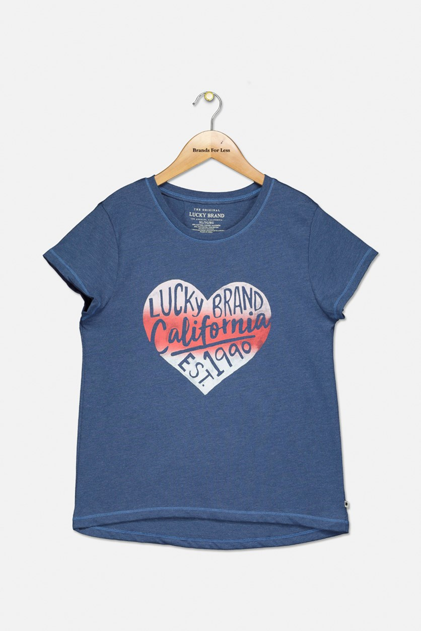 Girls Aureilia T-Shirt, True Navy
