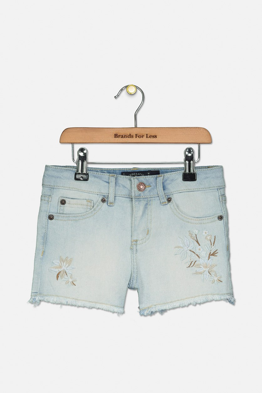 Kids Dora Stretch Denim Shorts, Bella Wash