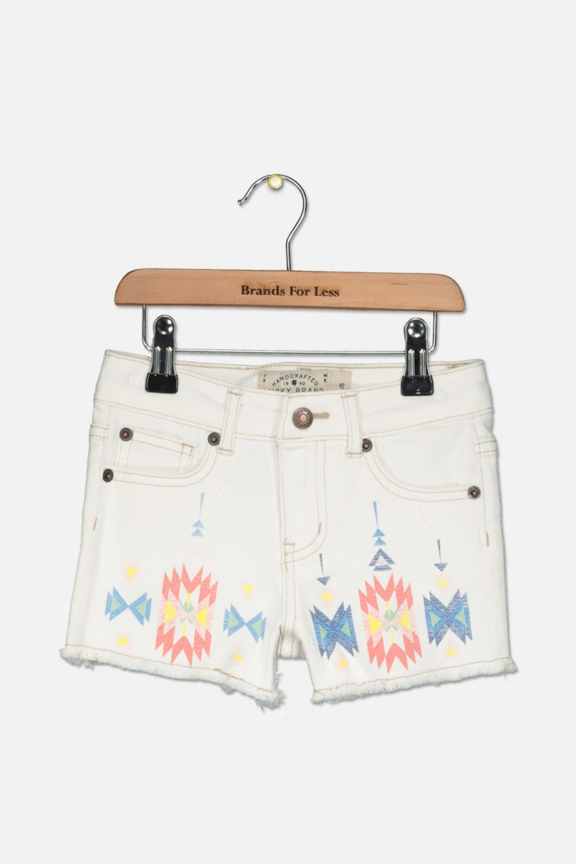 Girls Riley Short, White