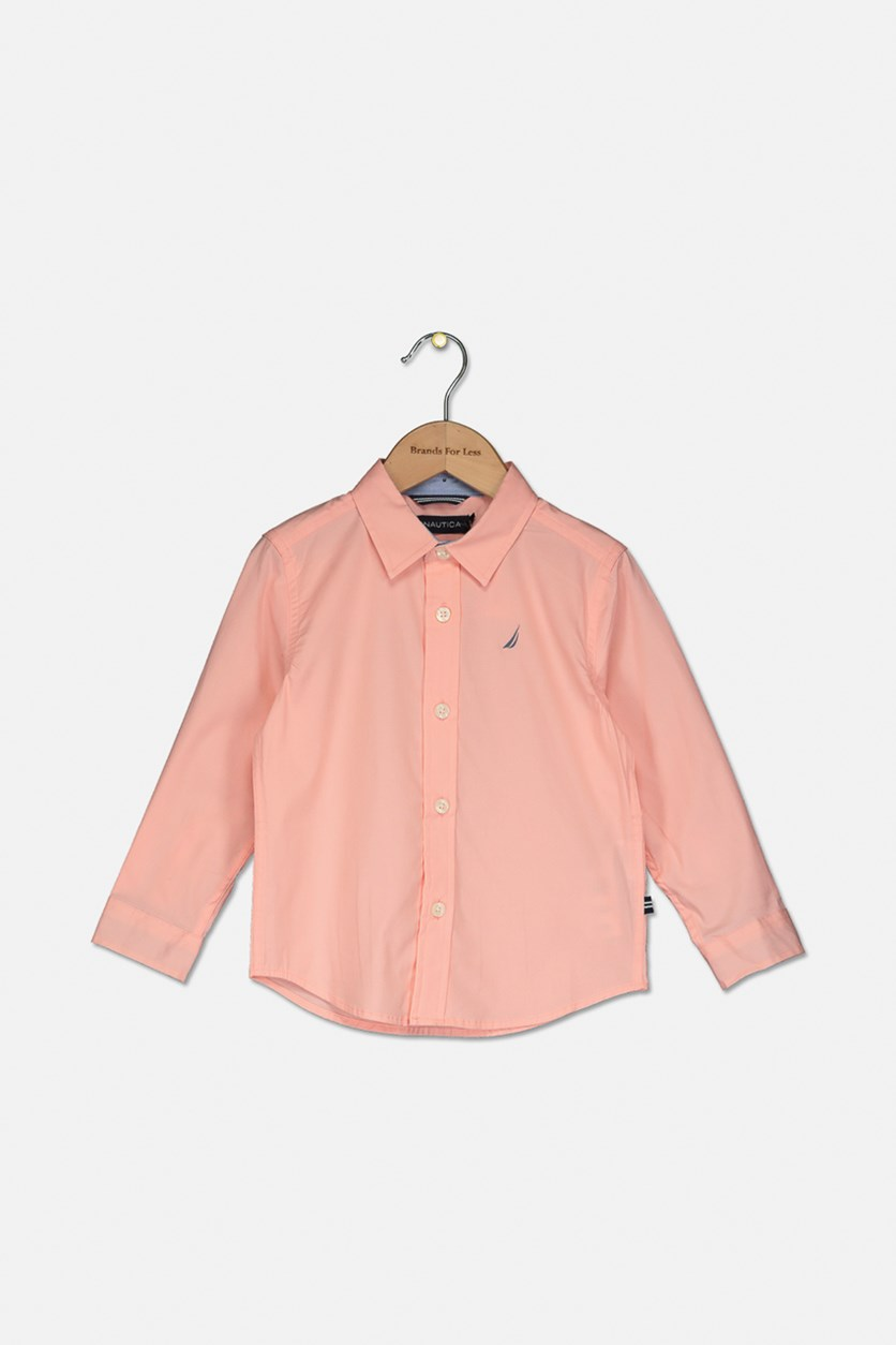 Toddlers Long Sleeve Shirt, Light Pink