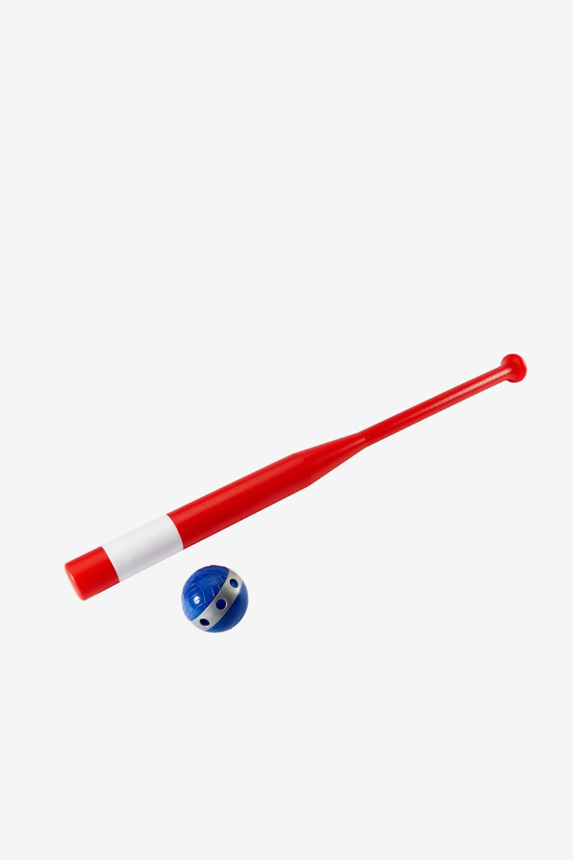 Little Kid's Bat And Ball Set, Red/Blue