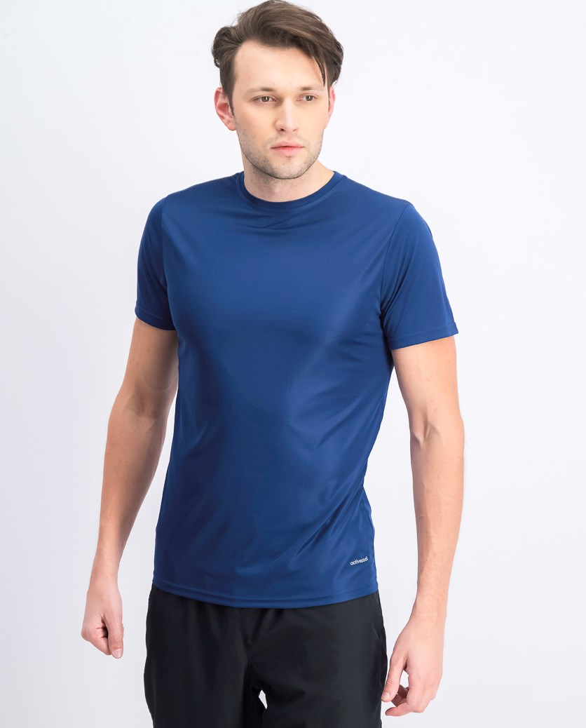 Men's Crew Neck Plain T-shirts, Navy