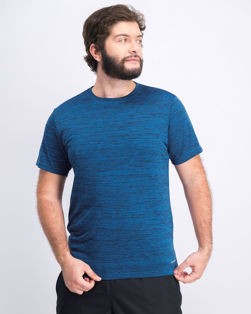 Men's Crew Neck Short Sleeve T-shirts, Melange-Indigo/Blue