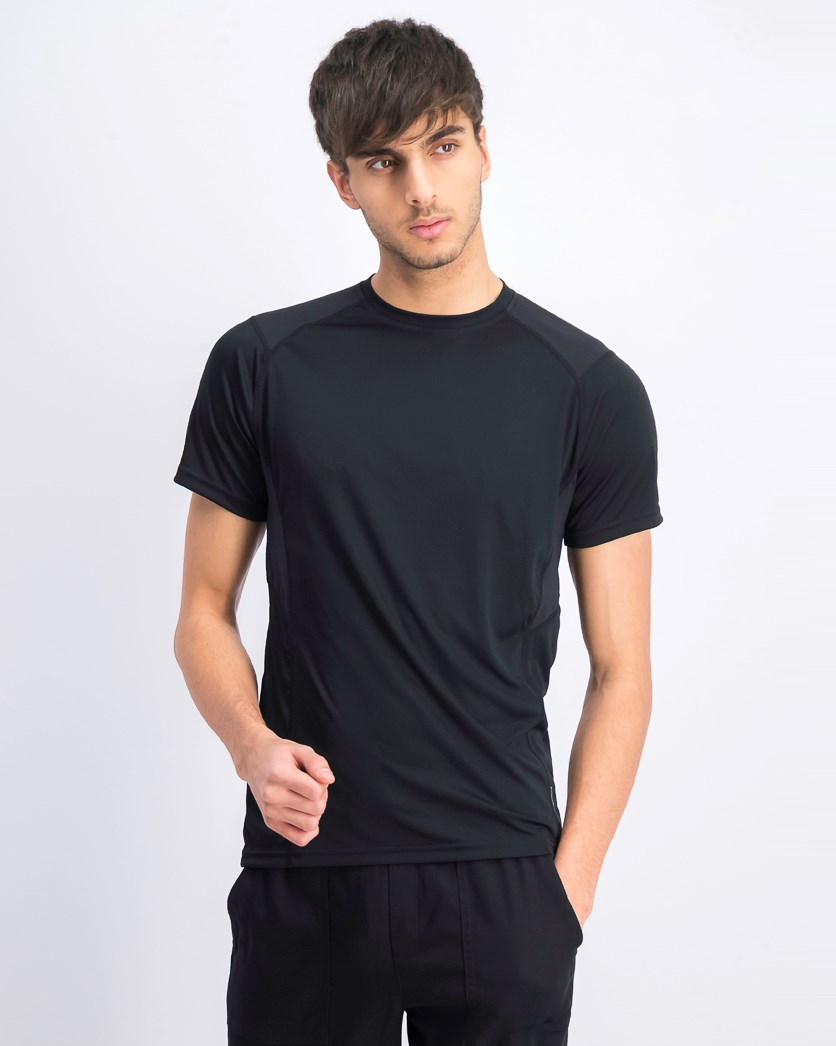 Men's Crew Neck Plain T-shirts, Black