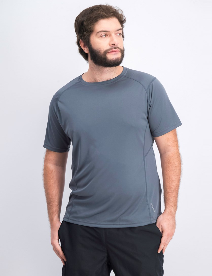 Men's Plain Crew Neck T-shirts, Grey