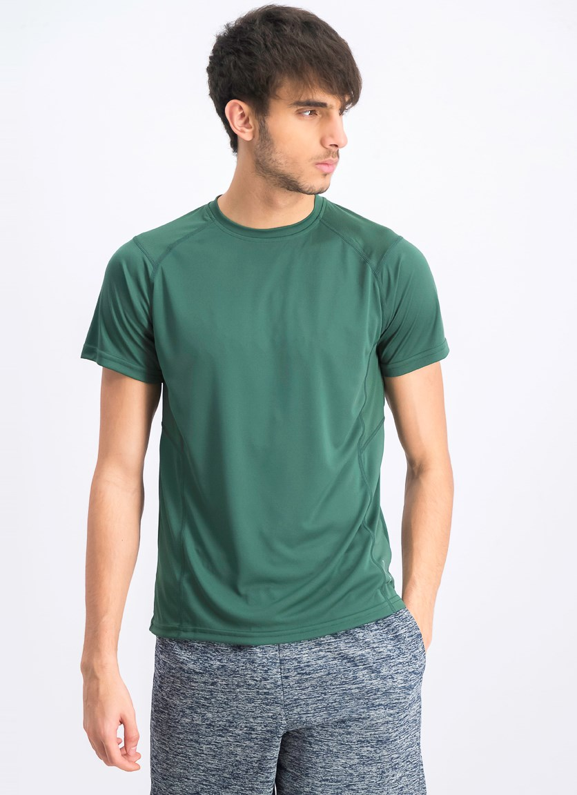 Men's Plain Crew Neck T-shirts, Dark Green