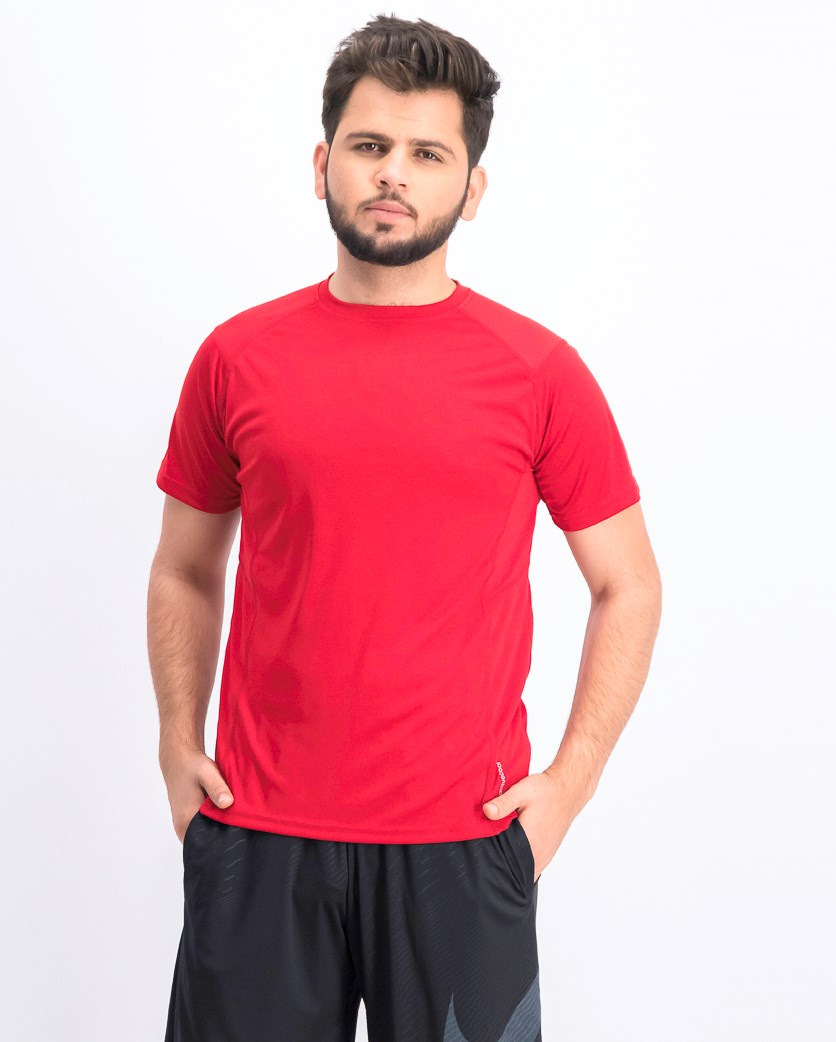 Men's Plain Crew Neck T-shirts, Red