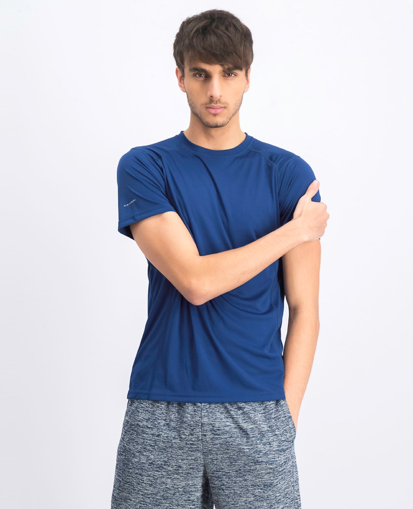 Men's Crew Neck T-shirts, Estate  Blue
