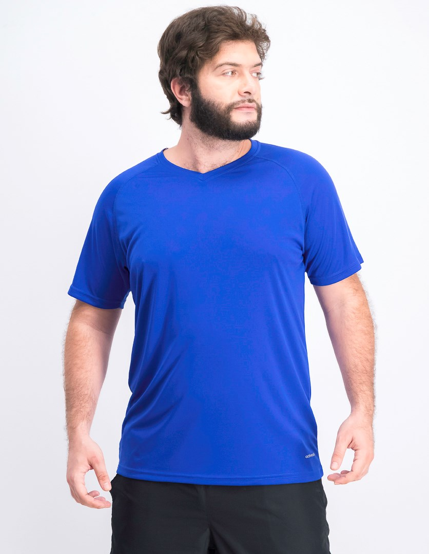 Men's Plain V-neck T-shirts, Royal Blue