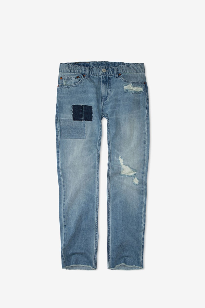 Boys 511 Slim-Fit Warp Stretch Patches Jeans, Wash Blue