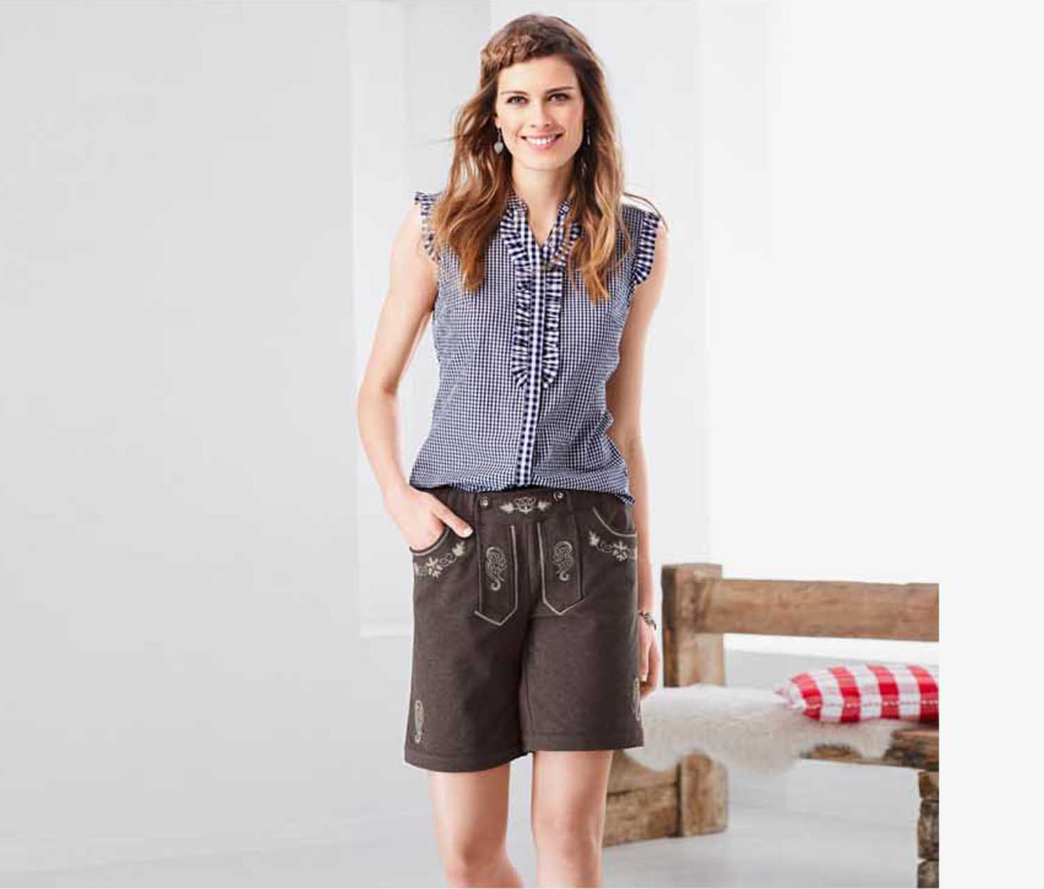 Women's Costumes Jersey Shorts, Mottled Brown