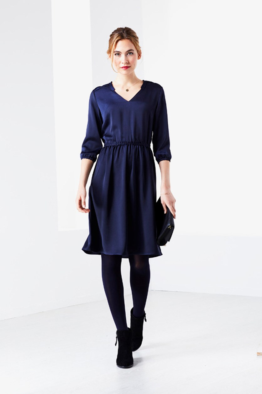 Women's Woven Dress, Blue
