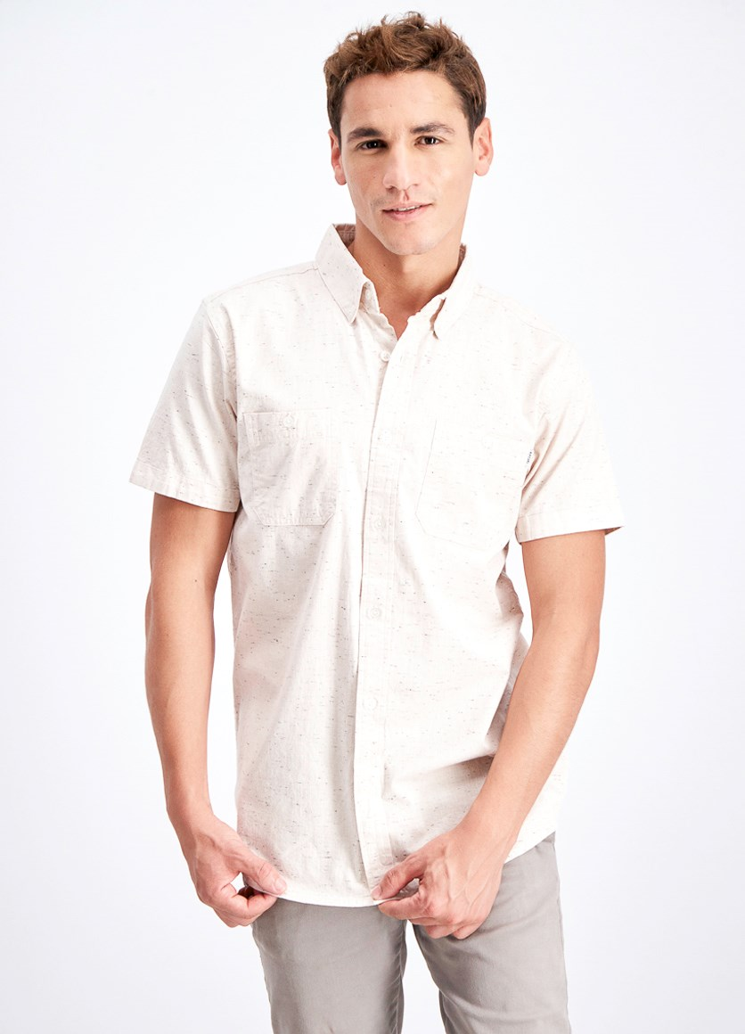 Men's Breaker Shirt, Beige