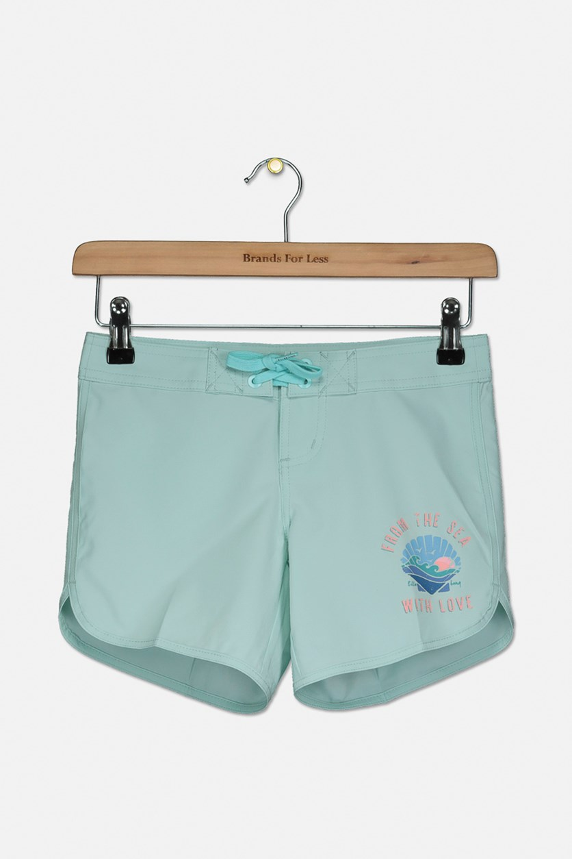 Girl's Sol Searcher 5 Boardshort, Turquoise